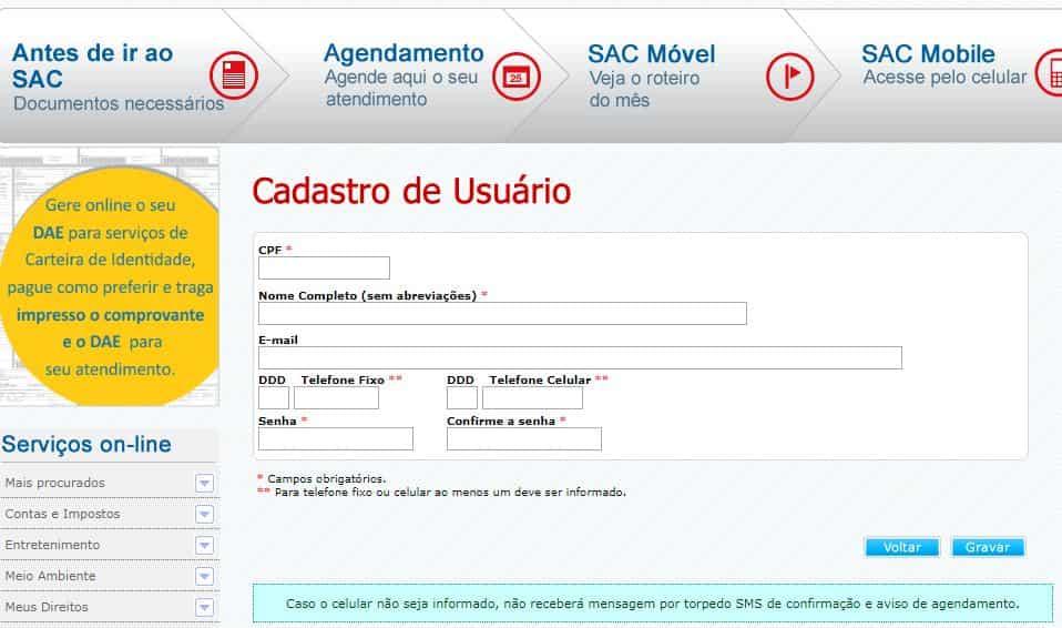 SAC Paralela/Salvador agendamento